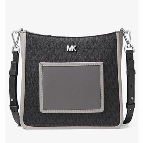d59595b01954 Michael Kors Gloria Logo and Leather Messenger bag